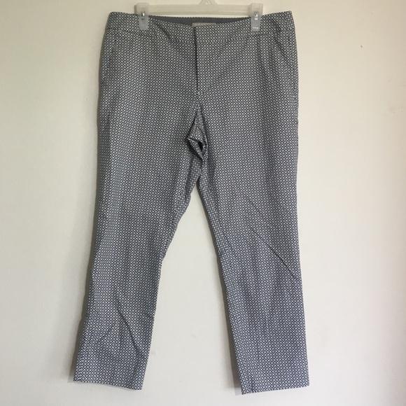 Banana Republic Pants - Banana Republic Patterned Ankle Length Dress Pants